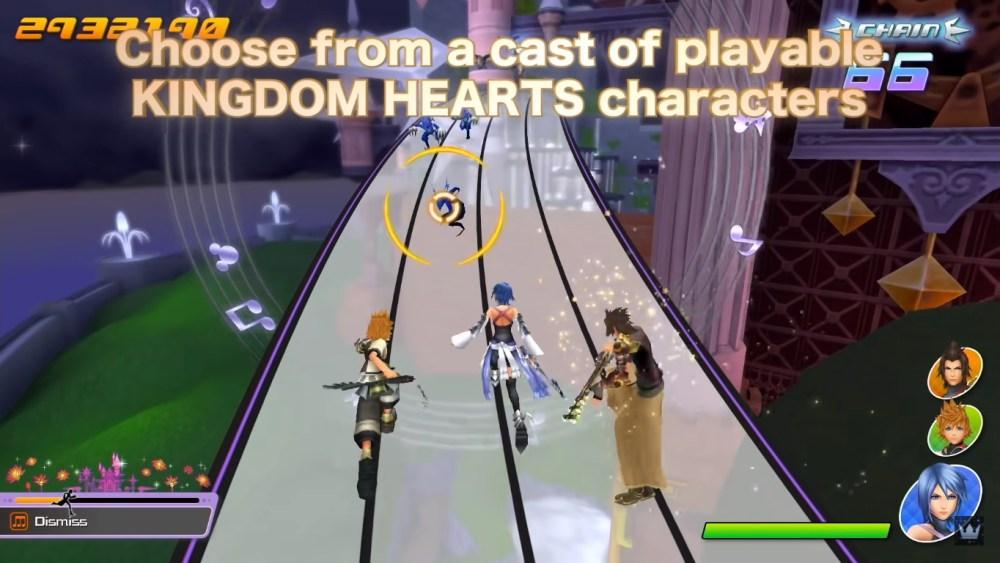 Poderemos jogar com diversos personagens em Kingdom Hearts: Melody Of Memory.