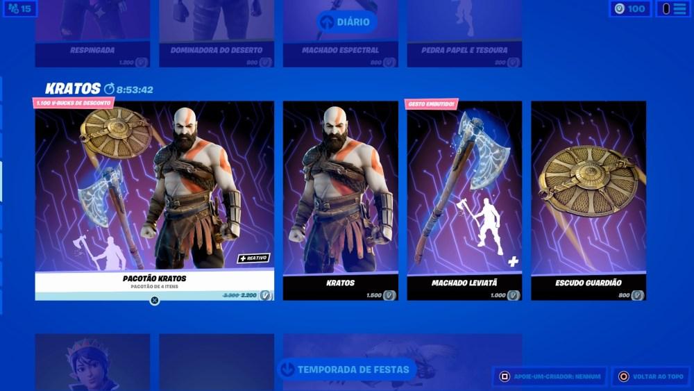 Kratos em Fortnite 6