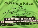 Here's the route and t shirt (which we only got at the end).