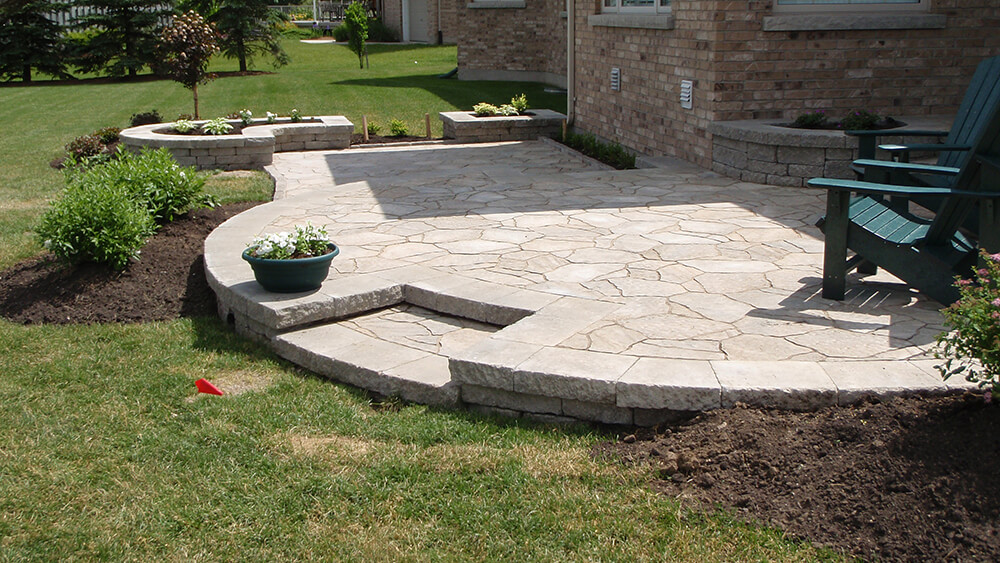 flagstone look on a paver budget a