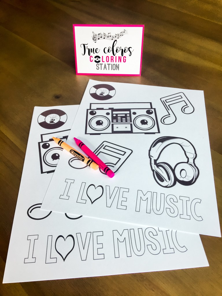 DJ Party Coloring Pages