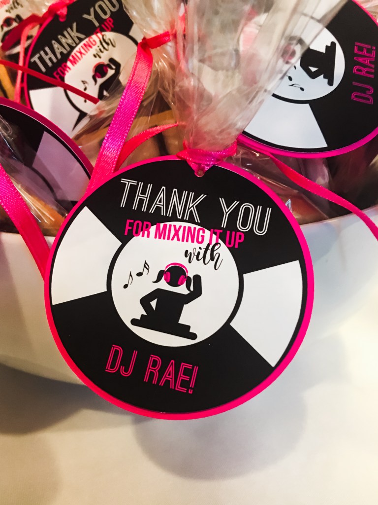 Pink DJ Theme Party Favors