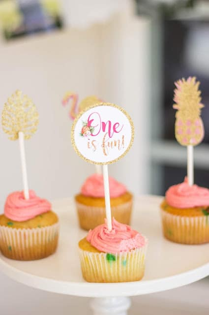 Summer Party Cupcake Toppers