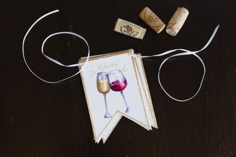 Wine Time Banner DIY