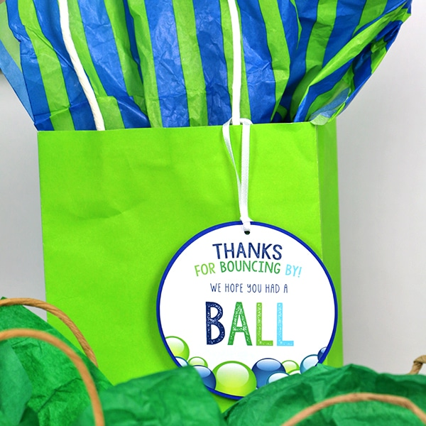 Ball Party Favor Tags