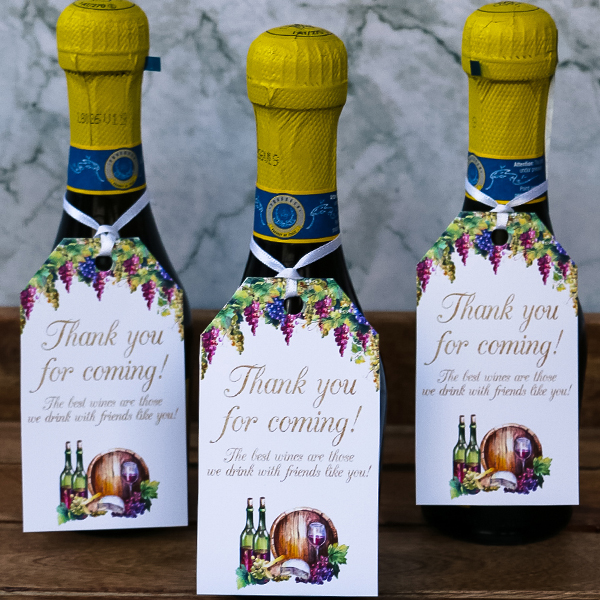 Wine Tasting Party Favor Tags