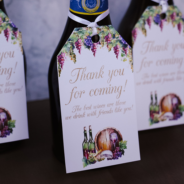Wine Party Favor Tags