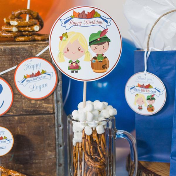 Oktoberfest Centerpiece Sticks