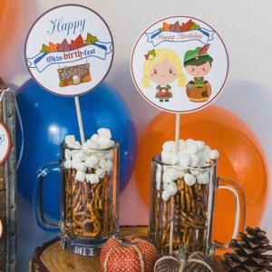 Oktoberfest Birthday Party Circles