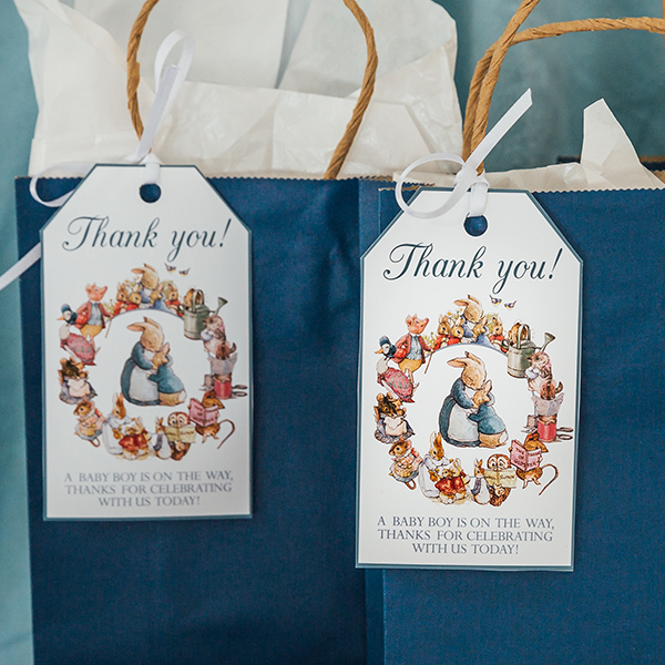 Peter Rabbit Baby Shower Favor Tags