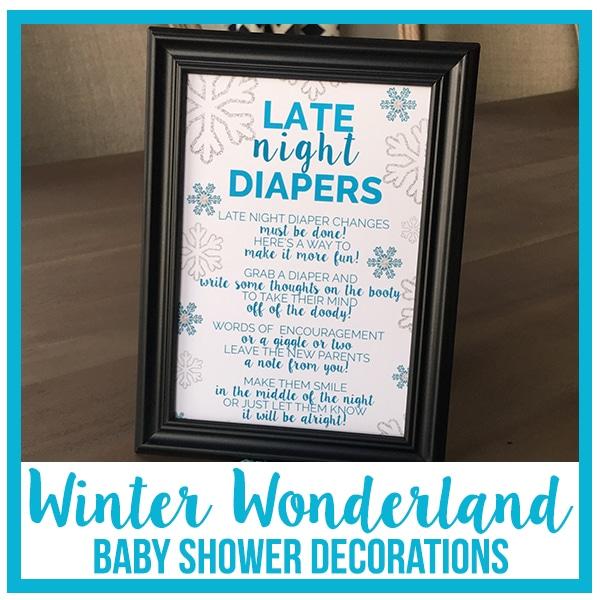 Winter Wonderland Baby Shower Decorations