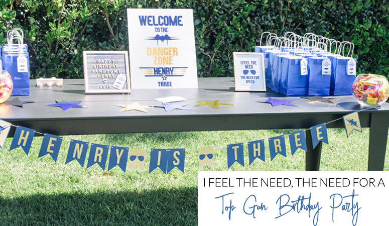 Blue and Gold Top Gun Party Decorations