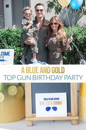 Blue and Gold Top Gun Party