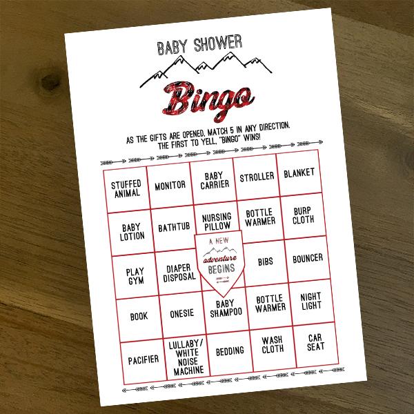 Buffalo Plaid Baby Shower Bingo Game