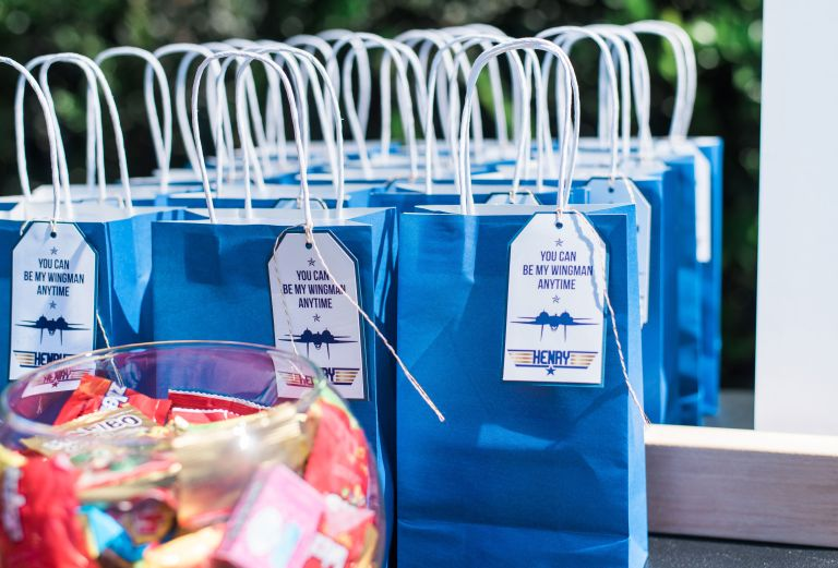 Blue and Gold Top Gun Birthday Party Favors
