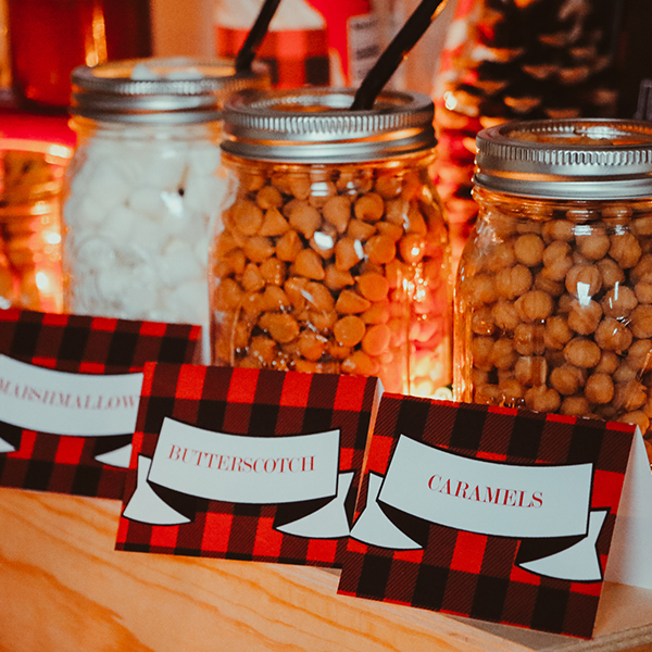 Hot Chocolate Bar Decorations: Food Labels