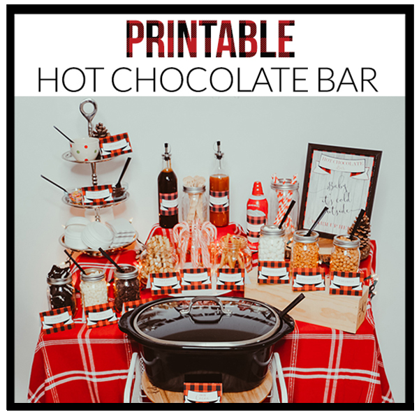 image relating to Hot Cocoa Bar Printable called Scorching Chocolate Bar/Scorching Cocoa Bar Decorations - A Contact of LA