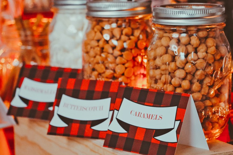 Caramels, butterscotch food tents