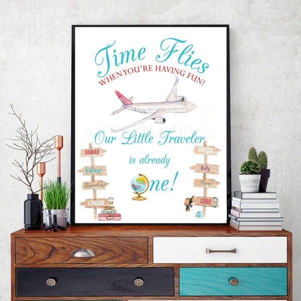 Our Traveler is One Welcome Sign in Frame
