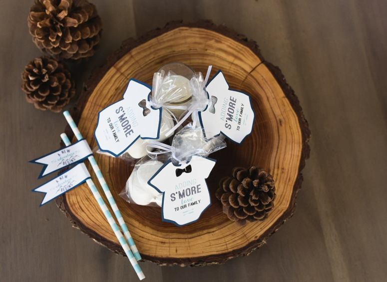 Party Themes for Cold Weather: S'more favor tags