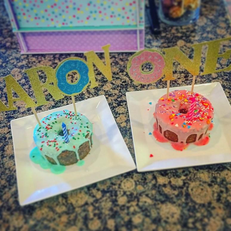 Donuts and Pajamas Party Cake Ideas