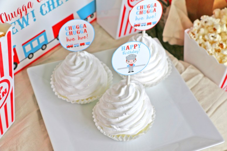 Train Party Cupcake Toppers