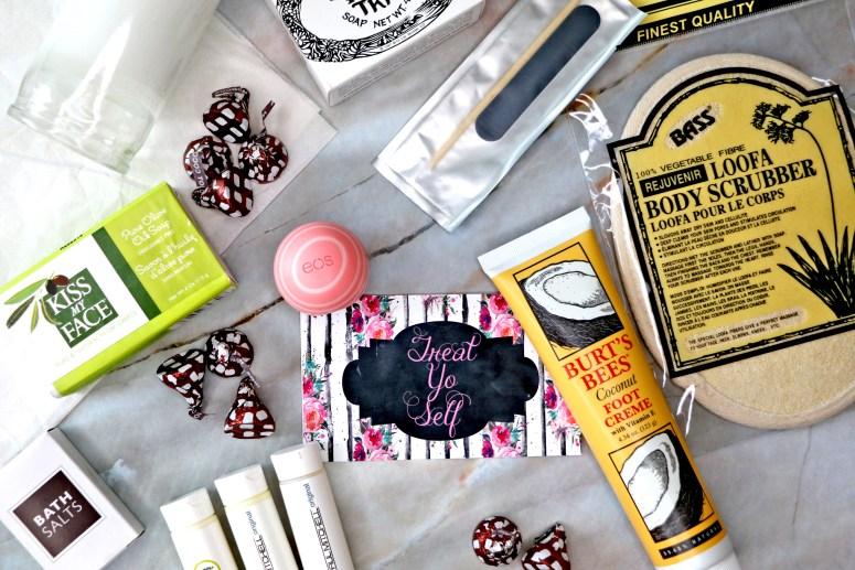 Treat Yo Self Spa Jar Flay Lay Far: Easy DIY Christmas Gifts