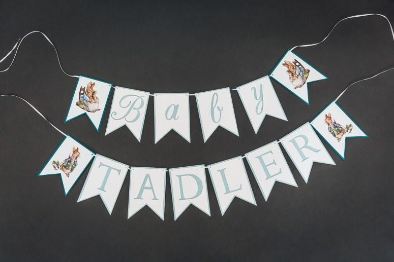 Peter Rabbit Baby shower banner