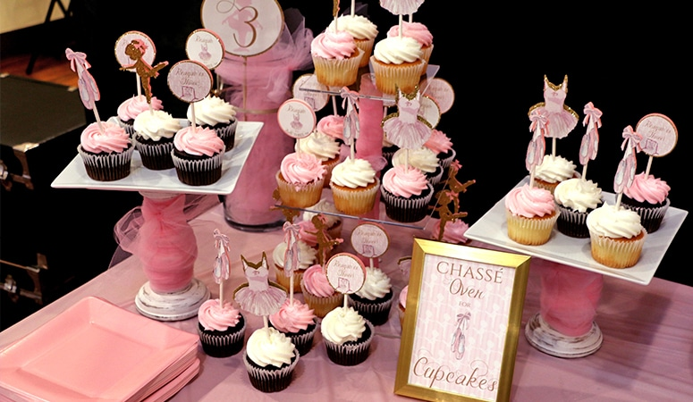 Ballerina Party Decorations: Print and Cut Decor