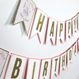 Ballerina Party Happy Birthday Banner