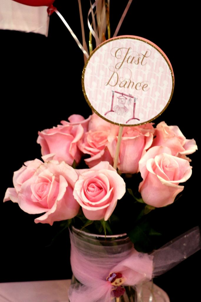 Happy Birthday Ballerina Centerpeice Stick