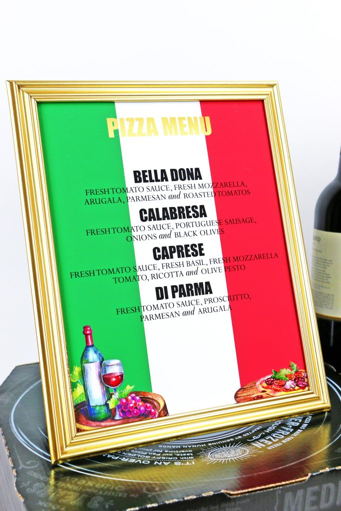 Pizza Party Menu Sign