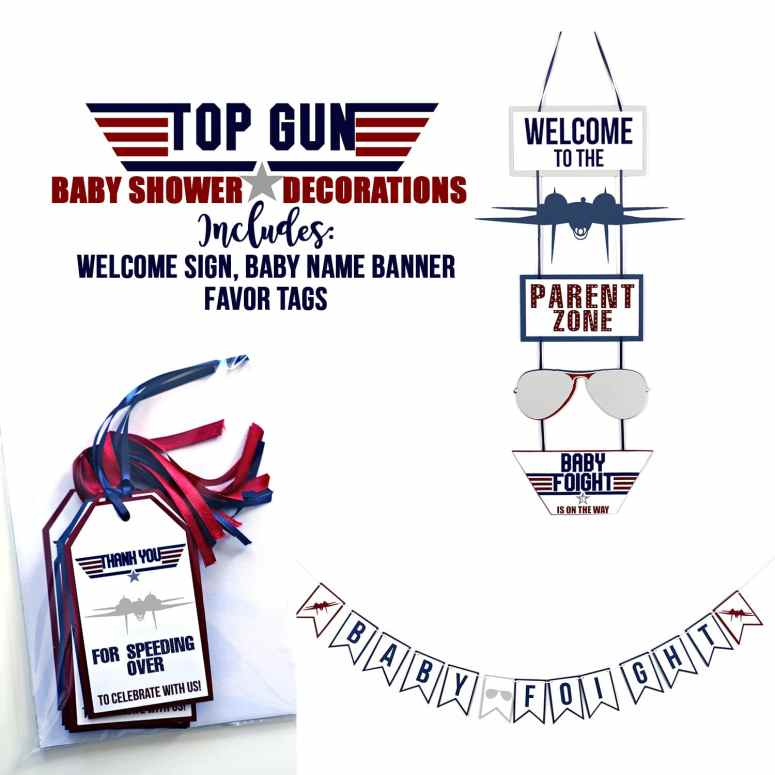 Top Gun Baby Shower Decorations on Etsy