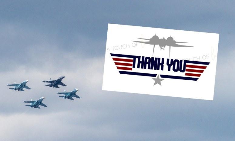 Top Gun Thank You Card