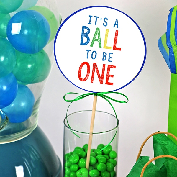 Ball Party 1st Birthday Large Party Circles