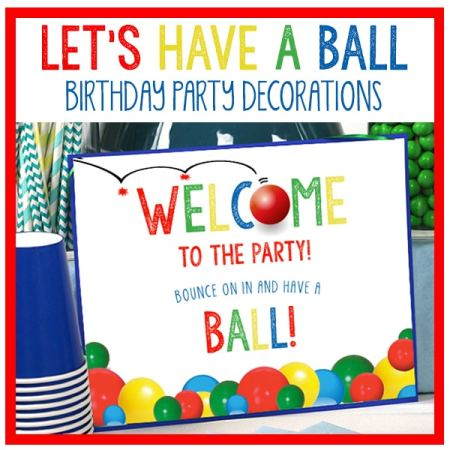 Bouncy Ball Party Decorations