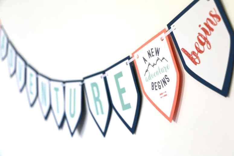 gender neutral adventure baby shower banner