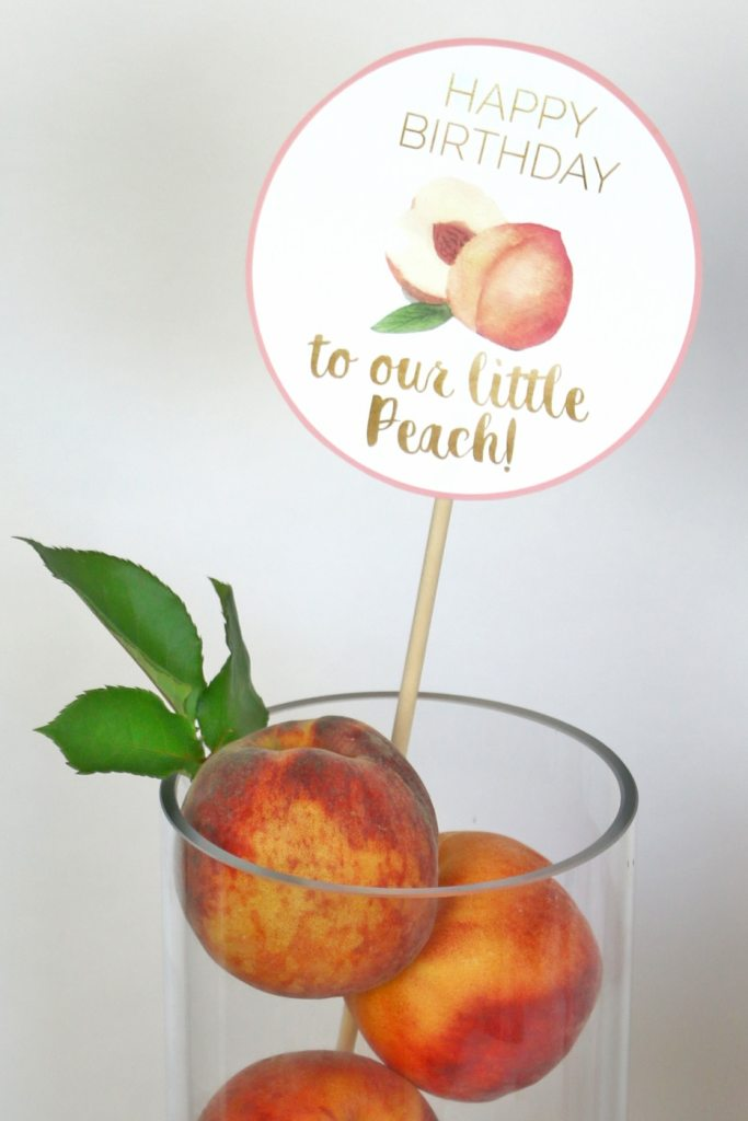 Our little peach party decorations