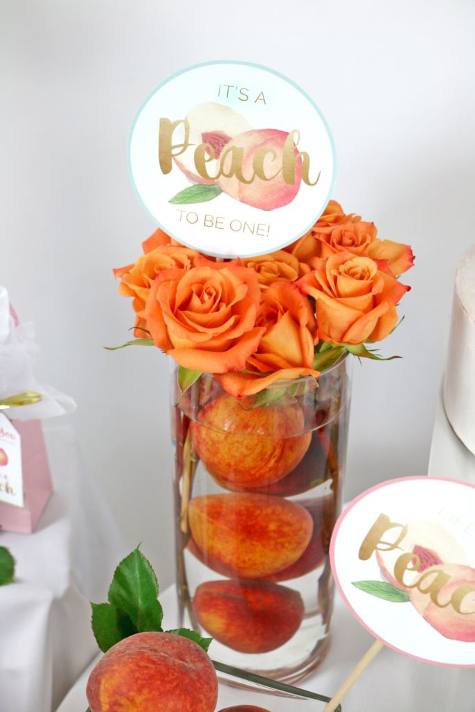 It's a Peach to be One Party Decorations