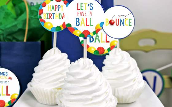 Let's Have A Ball Birthday Party Decorations