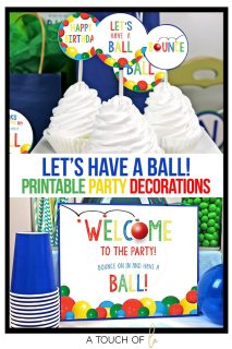 Let's Have A Ball Digital Party Decorations