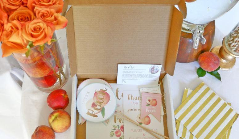 Sweet as A Peach Birthday Decorations
