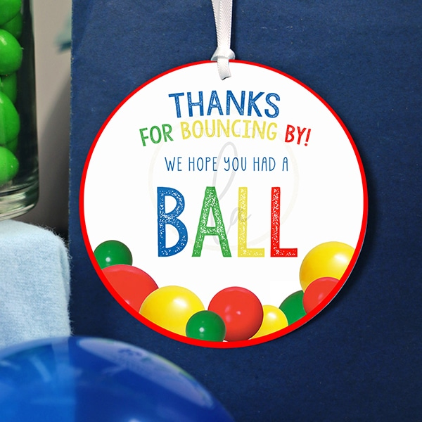 Ball Party Printable Favor Tags