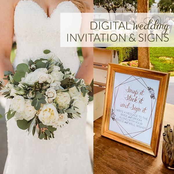 Custom Digital Wedding Signs