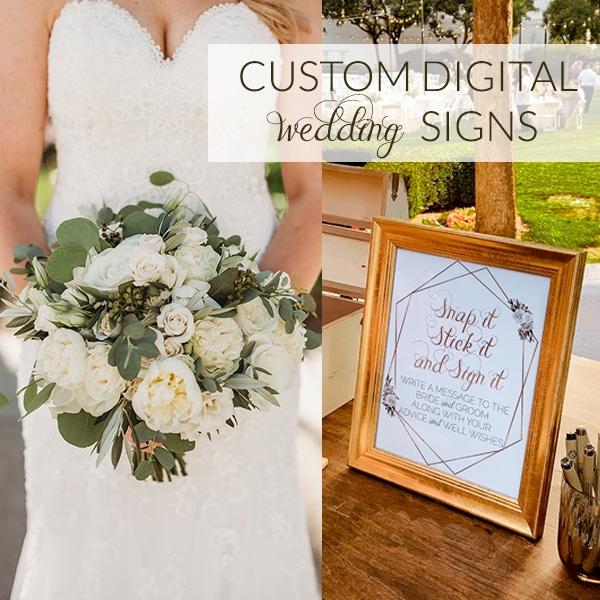 Custom Wedding Signs to Match your Wedding!