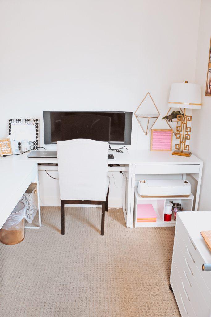 Ikea craft room desk setup