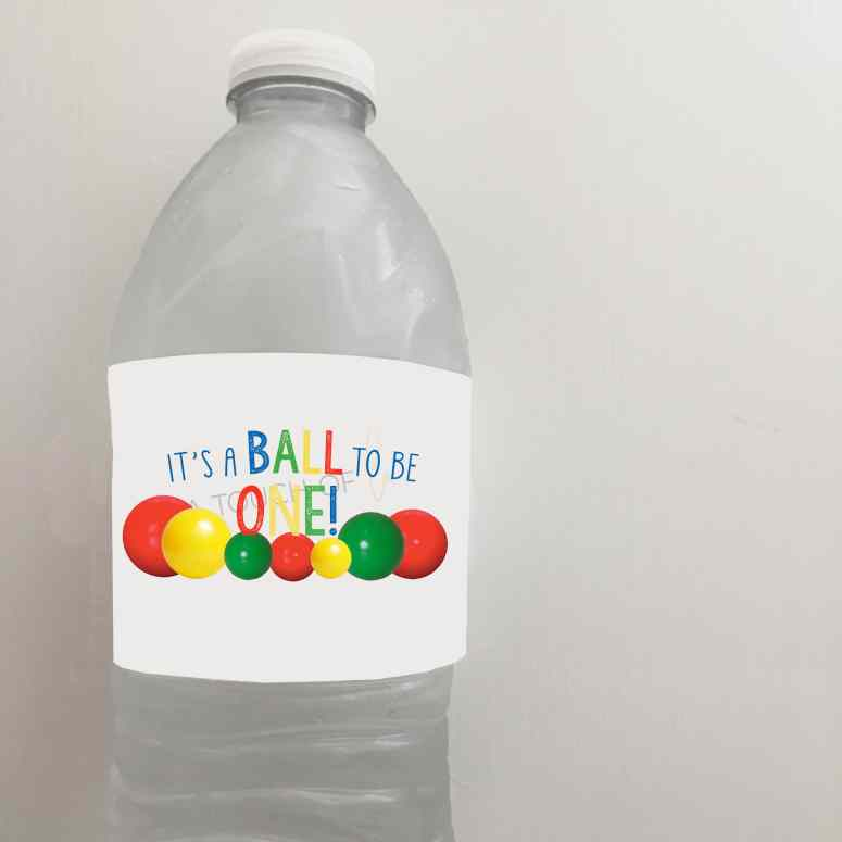 It's a Ball to be one water bottle lables