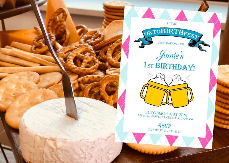 Oktoberfest birthday party invitation ideas