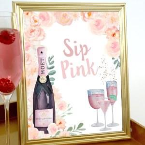 Rosé Bridal Shower Pink Sign