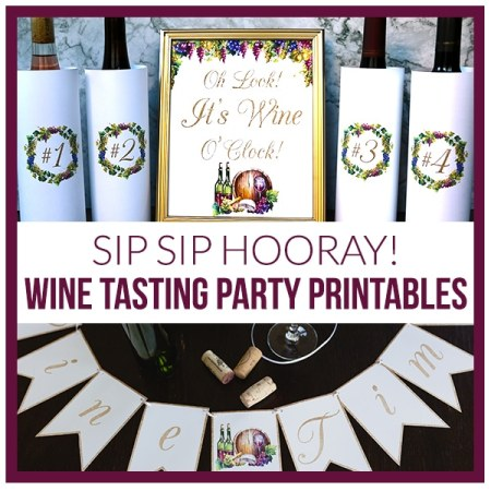 Printable Wine Tasting Party Decorations